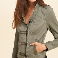 Girls Twill Band Jacket | Girls 50% Off Back To Class | HollisterCo.com