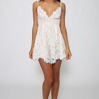 Adding Up Playsuit - White