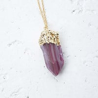 Faux Geode Pendant Necklace