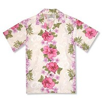 pinkmist hawaiian boy shirt