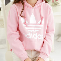 Adidas: Big yards fleece hoodies for men and women students coat sweethearts outfit
