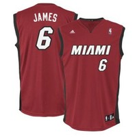 adidas Youth Miami Heat LeBron James Replica Revolution 30 Red Basketball Jersey - Dick's Sporting Goods