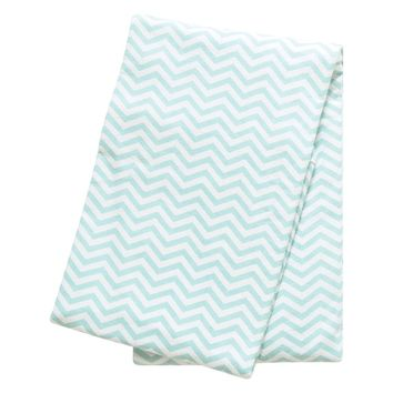Trend Lab Mint Chevron Cotton Deluxe Flannel Swaddle Blanket | Overstock.com Shopping - The Best Deals on Swaddling Blankets