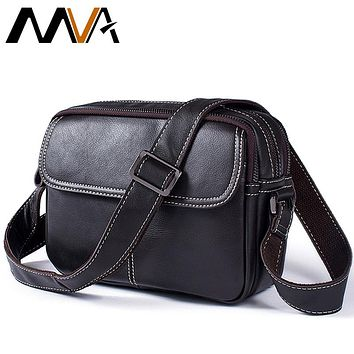Crossbody Bag Fashion Men Messenger Bags Small Flap Solid Mens Shoulder Bags Zipper Ipad Genuine Leather Men Bag Male