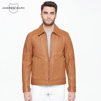 Men's Real Leather Jacket Vintage Throwback Genuine Motorcycling Coats Man Leather Coats