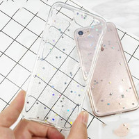 Soft Clear Glitter Phone Case For iPhone 7 7Plus 6 6s Plus