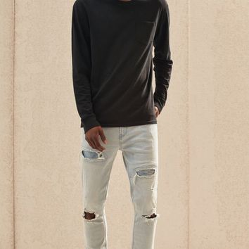 PacSun Stacked Skinny Ripped Jeans - light indigo | PacSun