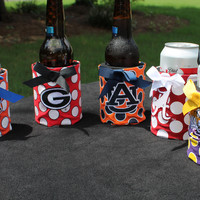 College Football Polka Dot Koozie