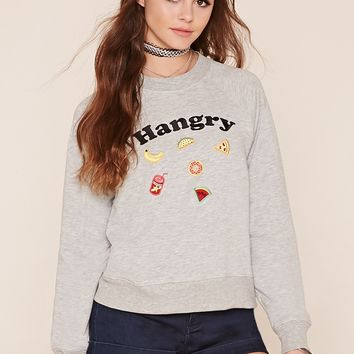 Hangry Embroidered Pullover
