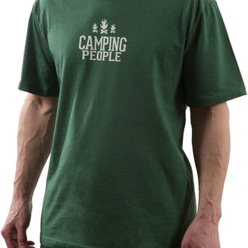 Camping People - Green Unisex T-Shirt