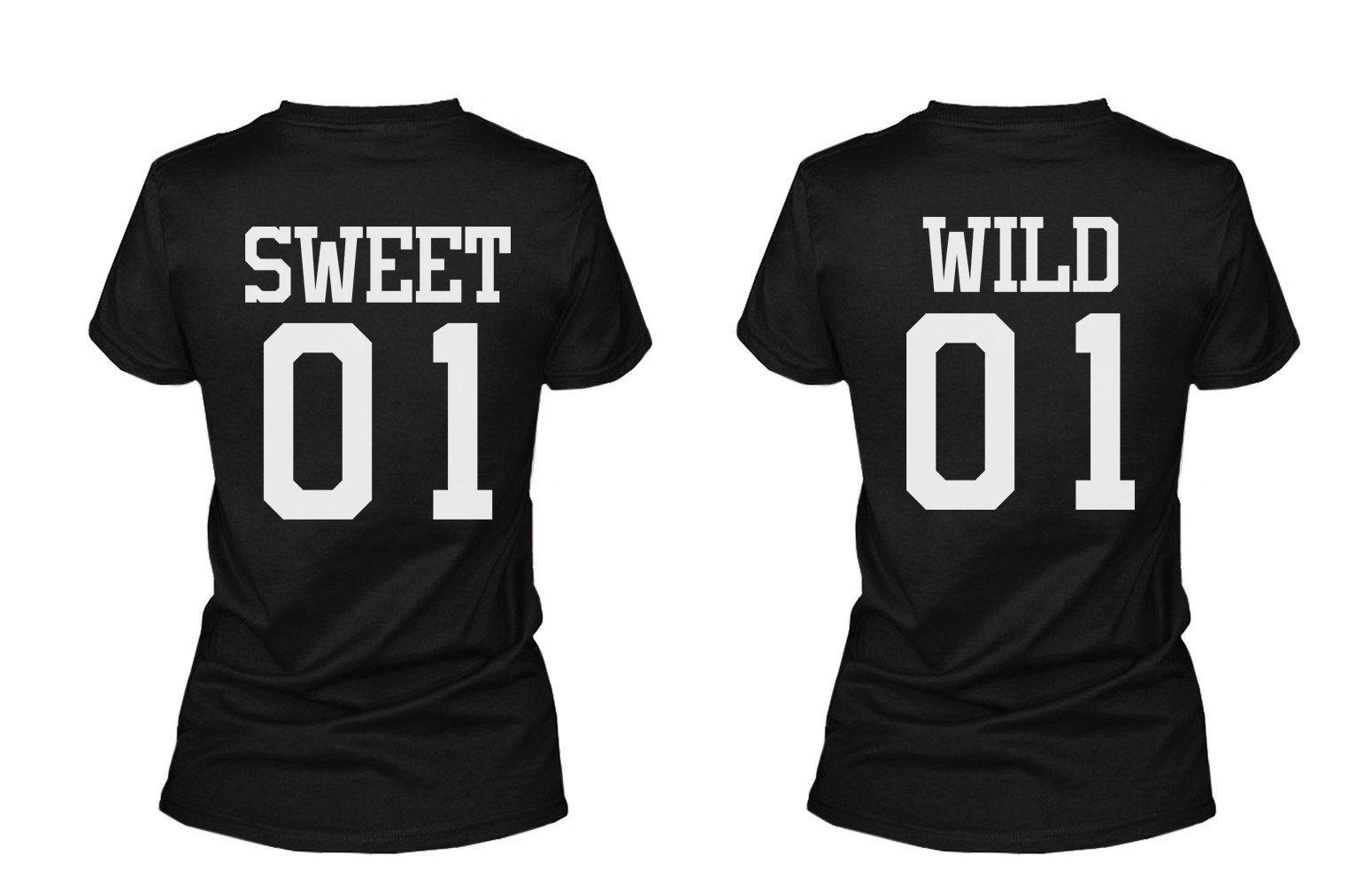 763c0332f41 Sweet 01 Wild 01 Matching Best Friends T Shirts BFF Tees For Two Girls  Friends.  30.99 from 365 Printing Inc
