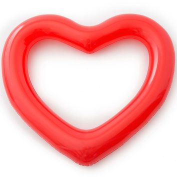 Jumbo Red Heart Beach, Please! Inner Tube Pool Float