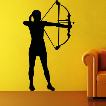 Vinyl Wall Decal Sticker Girl Archer #OS_AA677