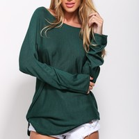 Bring It Back Sweater Forest Green