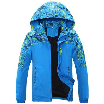 Double-deck Waterproof Windproof Boys Girls Jackets Children Outerwear Warm Child Coat Kids Clothes For 7-16 Years Old