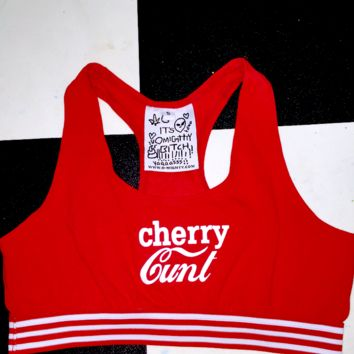 SWEET LORD O'MIGHTY! CHERRY CUNT BRALET IN RED