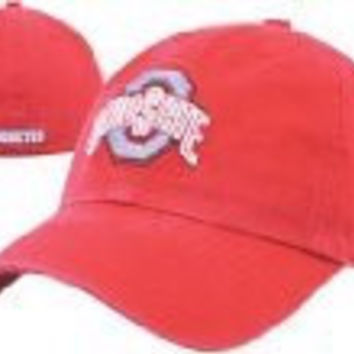 NCAA Ohio State Franchise Fitted Hat, Red Large