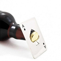 Playing Card Ace of Spades Poker Bar Tool Soda Beer Bottle Cap Opener
