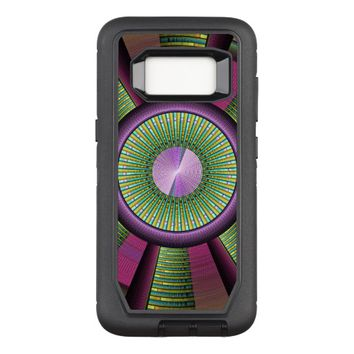 Round And Colorful Modern Decorative Fractal Art OtterBox Defender Samsung Galaxy S8 Case