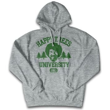 "Bob Ross ""Happy Trees University"" 100% Authentic Graphic Hoodie/Pullover for Men and Women"