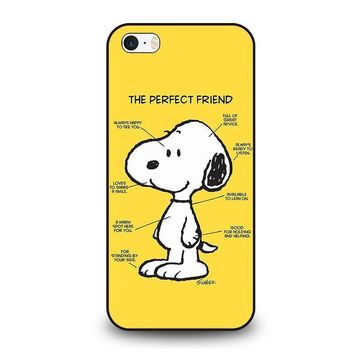 snoopy dog perfect friend iphone se case cover  number 1