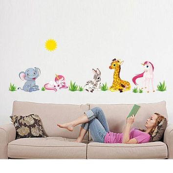 ONETOW Super Deal 2016 Hot Sale Animal Pattern Removable Mural Wall Stickers Wall Decal Room Home Decor Mural Decal  XT