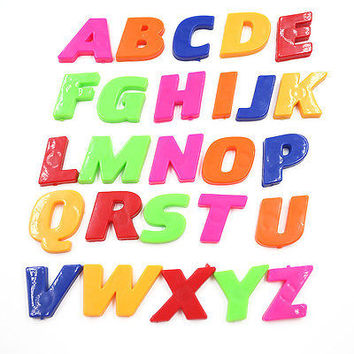 Cheap Set Of Colorful Teaching Magnetic Letters & Numbers Fridge Alphabet Home 4