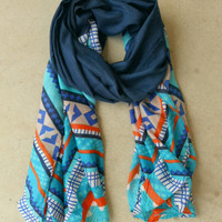 Indigo Ridge Scarf [4459] - $14.00 : Vintage Inspired Clothing & Affordable Dresses, deloom | Modern. Vintage. Crafted.