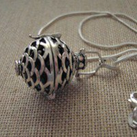 Sterling Silver Chime Ball Necklace 30