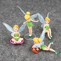 4pcs/lot TinkerBell Tinker Bell Fairy Action Figure Set for Boys and Girls Action Figure Kids Toys