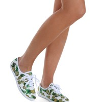 White Pineapple Trend Sneakers