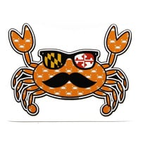 Halloween Fun Crab Disguise (Orange) / Sticker