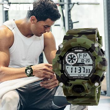 Skmei Camouflage Fashion Casual Sports Watches Mens Luxury Brand G style Army Military Digital Watches Men Reloj Wristwatches