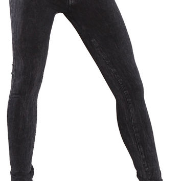 Research & Development Mineral Washed Skinny Pants Black