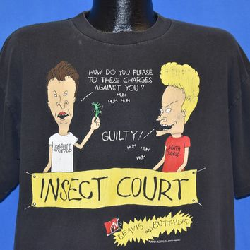 90s Beavis and Butthead MTV Insect Court t-shirt Large