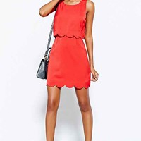 Cooperative Scallop-Edge Twofer Dress-