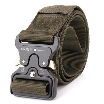 Men  Military Equipment Paintball Army Belt Heavy Duty US Soldier Combat Tactical Belts Nylon Waistband