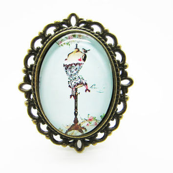 Vintage style mannequin brooches,tailor's dummy,personalized jewelry DD903