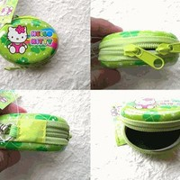 Hello Kitty Small Tin Case Sanrio GREEN