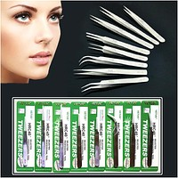 Individual Eyelash Extension Tweezers Stainless Mink Volume Eyelashes Lashes Tools
