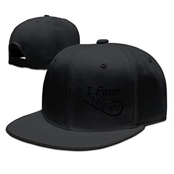 Peaked Fear No Fish Fishing Hats For Mens