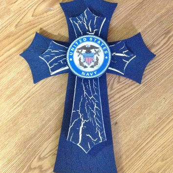 30%OFFSALE Navy Themed Cross