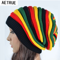 Women's Winter Hats For Women Girls Winter Caps Bonnet Beanies Knitted Hat Reggae Rasta Femme Mask Brand balaclava Hats