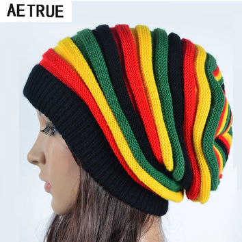 2016 Women's Winter Hats For Women Girls Winter Caps Bonnet Beanies Knitted Hat  Reggae Rasta Femme Mask Brand balaclava Hats