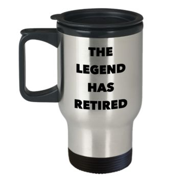 The Legend Has Retired Mug Coach Funny Silly Retirement Gift Idea for Men Women Travel Mug Stainless Steel Insulated Coffee Cup