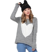 FunShop Women's Eyelashes Pattern Knitted Hat with Rabbit Ears