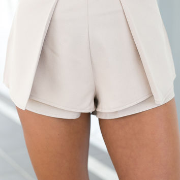 FIRST ORDER SHORTS (BEIGE)
