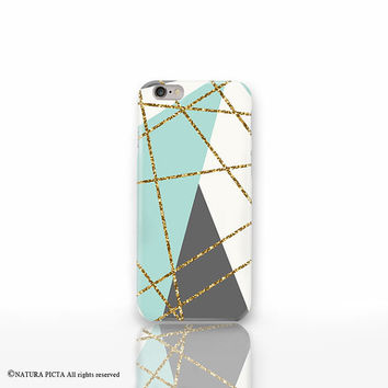 Geometric iPhone 6 case-abstract iPhone case-glitter iPhone 6 case-Galaxy s6-galaxy s5-iPhone 5-iPhone 4-custom case-by Natura Picta-NP3D048