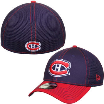Montreal Canadiens New Era Two-Tone Neo 39THIRTY Flex Hat – Navy Blue/Red