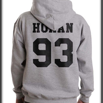 Horan 93 Black ink on back Unisex Pullover Hoodie S to 3XL